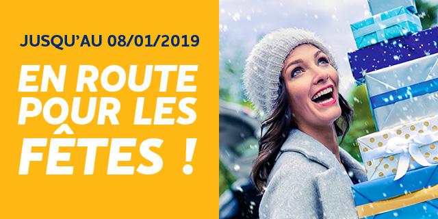 jusqu?au 08/01/2019 en route pour les fêtes!